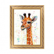 NDJK 5D DIY Deer Diamond Embroidery Painting Rhinestone Cross Stitch Home Decor Gift