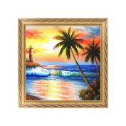 NDJK 5D Diamond Embroidery Painting Beach Scenery Cross Stitch DIY Craft Home Decor