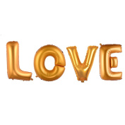 SHZONS Love Balloon Set Gold OXOX Foil Letter Balloon for Wedding Anniversary Engagement Party Bridal Shower Valentine¡¯s Day Decoration 100cm