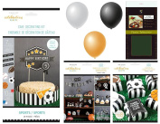 Celebration Shoppe by Kim Byers Sports Theme Bundle of 3 Party Kits - Cake Decorating, Banner & Accessories, and Favour Boxes - for Sports Event or Birthday Party Decor