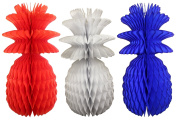 Large Solid Coloured 33cm Honeycomb Pineapple Party Decoration Kit