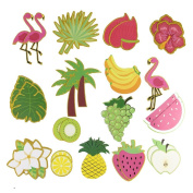 Paper jazz Letters Summer Banner Fruit Party DIY Banner Tropical Hawaiian Festival