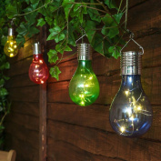Party Decoration,Waterproof Solar Rotatable Outdoor Garden Camping Hanging LED Light Lamp Bulb