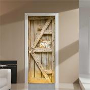 Door Sticker,3D Door Sticker Decal Art Decor Vinyl Removable Mural Poster Scene Window Door