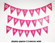 "Large banner ""OMG SHE'S GETTING MARRIED"" Engagement/Hen Party Banner Bunting Funny Decoration"