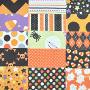 Halloween Fabric 13cm Squares Charm Pack, 30 pieces, die cut, 100% cotton