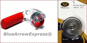 BlueArrowExpress New Improved Ergonomic Rotary Cutter 45 mm Right Hand + 5 Extra Blades by Martelli