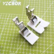 YICBOR 2pcs High Shank ZigZag Teflon Foot for Singer 20U Brother B651 B652