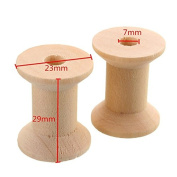 10 Pcs 29mm Vintage Style Wooden Bobbins Spools Reels Organiser For Sewing Ribbons Twine Wood Crafts Tools DIY