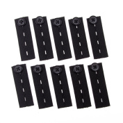 Vancool 10-Pack Adjustable Elastic Waist Extender Strech 4 Button Slots for Pants and jeans