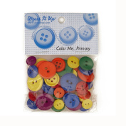 Dress It Up Colour Me Collection Buttons Primary