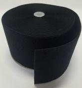 15cm BLACK SEW-ON HOOK and LOOP FASTENER - LOOP SIDE ONLY - 1 YARD