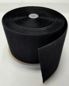 15cm BLACK SEW-ON HOOK and LOOP FASTENER - HOOK SIDE ONLY - 1 YARD