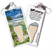 "Turks & Caicos ""FootWhere"" Zipper-Pull. Made in USA"
