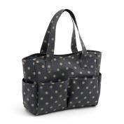 Hobby Gift 'Charcoal Polka Dot' Matt PVC Craft Bag 12.5 x 39 x 35cm