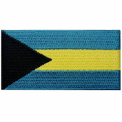 Bahamas Flag Embroidered Emblem Bahamian Islands Iron On Sew On National Patch