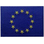 European Union Flag Embroidered Emblem EU Europe Iron On Sew On International Patch