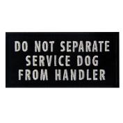 Do Not Separate Service Dog From Handler Vests/ Harnesses Emblem Embroidered Fastener Hook & Loop Patch, 10cm X 5.1cm
