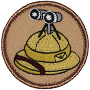 The Safari Hat Patrol Patch - 5.1cm Diameter Round Embroidered Patch