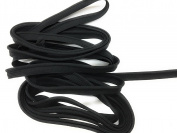 Cord-edge -Piping Trim BLACK weave -Lip Cord for Clothing Pillows, Lamps, Draperies 5 Yards Pi-129/108