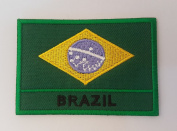 BRAZIL National flag Embroidery Needlecraft Decor by sewing or ironing …