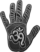 Hand of HINDU size 8cm.x10cm. biker heavy metal Horror Goth Punk Emo Rock DIY Logo Jacket Vest shirt hat blanket backpack T shirt Patches Embroidered Appliques Symbol Badge Cloth Sign Costume Gift