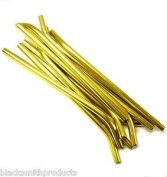 L11245 Rc Nitro Fuel Refill Bottle Pipes X 10 Gold Pipes Only 6mm Diameter