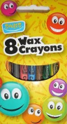 Smiles stationery - 8 Wax Crayons - Art Colouring Party Fillers