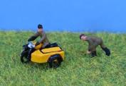 Pdx77 P & D Marsh Models - N-scale 1950's Aa Motocycle Patrol