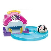 Zuru Hamsters In A House Race Track Hamster Toy ~ Black And White Zora