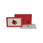 NCAA Louisville Cardinals stationery Note Card Set (8 Sets), One Size, Multicolor
