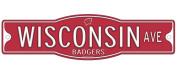 Wisconsin Badgers 10cm x 43cm Street Sign NCAA