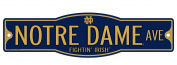 Notre Dame Fighting Irish 10cm x 43cm Street Sign NCAA