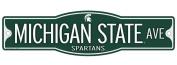 Michigan State Spartans 10cm x 43cm Street Sign NCAA