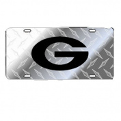 Georgia Bulldogs Silver Toolbox Black G Car Tag