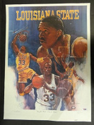 Shaquille O'Neal Signed 18x24 Lithograph Autograph Auto AB70519 - PSA/DNA Certified - Autographed College Art