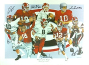 """Georgia Bulldogs Multi-Autographed/Signed Heroes of the Hedges"""" 24x18 Limited Edition of 1000 Print with 8 Signatures"""