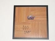 Will Wade Signed Framed 12x12 Floorboard Lsu Tigers Coach Autographed - Autographed College Floorboards