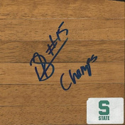 Durrell Summers Signed Floorboard Michigan State w/ Champs Inscription - Autographed College Floorboards