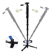 """DIGIANT MP-3606 2-in-1 Professional Telescoping Camera Monopod 70"""" Removable Camera Tripod Balance Stand With Pan-Head (Fits for 1/4""""-20 and 3/8""""-16 Screw), Include Carrying Bag"""