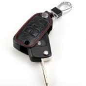 Happyit Car Key Cases For Volkswagen / Landbeat / Passat / Tiguan / Jetta / POLO / Bora / New Sutton Leather Key Set