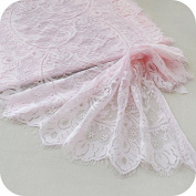 Pink Eyelashes Floral Embroidered Lace Trim Sale By one piece