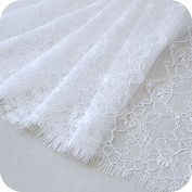 White Eyelashes Floral Embroidered Lace Trim Sale By one piece