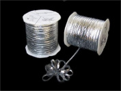 Silver Iridescent 4mm-wide thin Pull Bow String Ribbon 100 Yard gift wrapping favour decorating