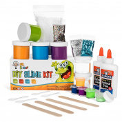 Homemade Slime Kit | How to Make Slime, Putty, and Goo | Includes Slime Containers, Ingredients, and Supplies for 4 Different Kinds of Slime