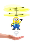 TEKIMBE RC Helicopter Me Minion Induction Flying Toy Drone Remote Control Aircraft Toy With Led Birthday Chrismas Gifts For Children kids