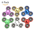Fidget Spinner ADHD Anxiety Toys 6 Pack Party Favour Stress Relief Reducer Spin for Adult Kid Student Class Autism Fidgets Best EDC Hand Spinners Bearing Finger Toy Focus Fidgeting Restless SCIONE