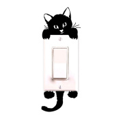 New Cat Wall Stickers Light Switch Decor Decals Art Mural Baby Nursery Room