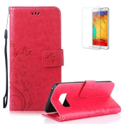 Galaxy S8 Plus Case.Funyye Elegant Premium Folio PU Leather Wallet Magnetic Flip Cover with [Wrist Strap] and [Credit Card Holder Slots] Stand Function Book Type Stylish Butterfly Leaf Vines Designs Full Protection Holster Case Cover Skin Shell for Sam ..