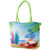 BEACH BAG Large or Medium or Small ***Aqua/Red/Yellow/Lime/ Orange/Blue/Purple/Green*** Floral Summer Bag Cruise Holiday Travel Picnic (
